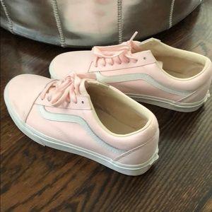 Pink Vans unisex ladies 7.5 tennis shoes like new